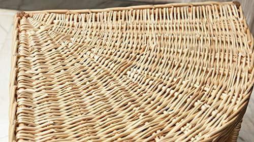 Amazon.com: Tamaño L hecho a mano mimbre esquina gato cueva ...