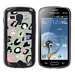 For Samsung Galaxy S Duos / S7562, S-type® Animal Pattern Abstract Grey - Arte & diseño plástico duro Fundas Cover Cubre Hard Case Cover