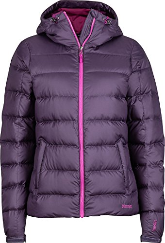 (Marmot Women's Guides 700 Fill Power Down Hoodie Jacket Coat (Nightshade Purple,)