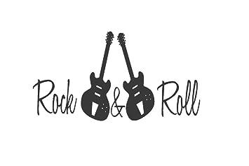 De pared para guitarras de Vinilo - Rock and Roll adhesivo decorativo para pared - Vinilo de pared ...