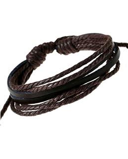Armband Retro Lederarmband Leder Wickelarmband Surferarmband Unisex NEU