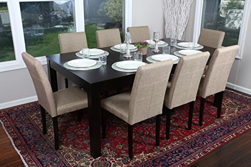 "Formal 9 Piece - 8 Person Butterfly Extension Table 42"" x 78"