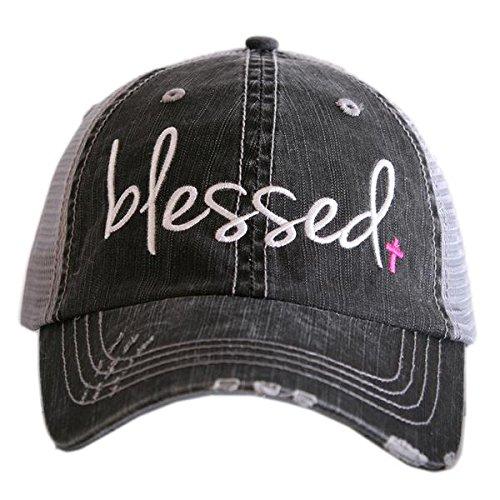 Blessed Trucker Hat Pink Cross
