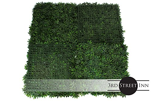 Artificial Marijuana Pot Leaf Hedge - Fake Weed Plant - Smoke Shop Decor - Sound Diffuser Marijuana Wall Art - Topiary Cannabis Greenery Panels (12, Cannabis) by Milltown Merchants (Image #2)