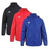 zip up rain coat - Canterbury Team Full Zip Rain Jacket, Royal/White