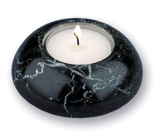 - British Fossils Black Marble Dome T-Lite Holder