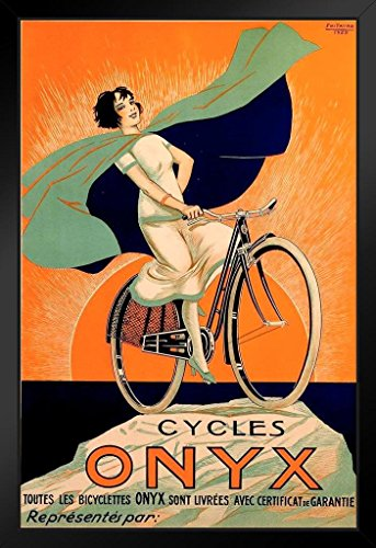 Cycles Onyx by Fritayre Bicycle Advertisement Art Print Framed Poster 14x20 inch