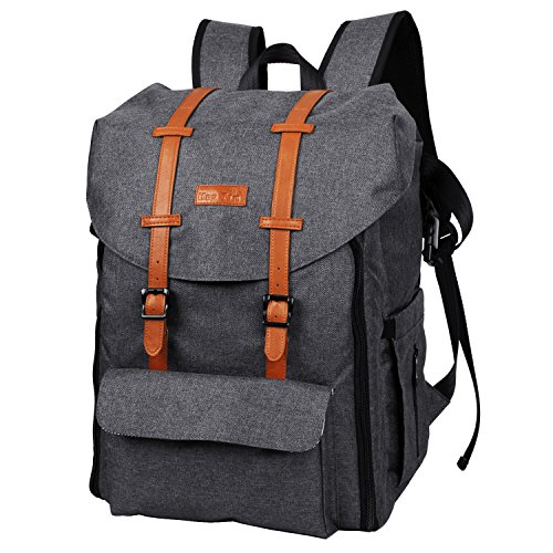HapTim Multi-function Large Capacity Baby Diaper Bag Backpack,Double Deck Design,Fashion Cool Kid/Baby Travel Backpack, Gift for Mother Father( 5312 Dark Grey)