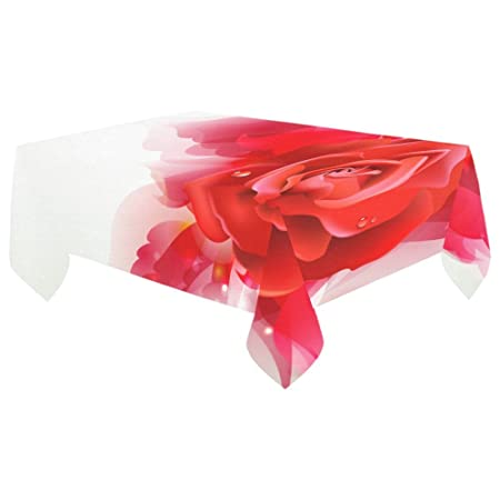 your fantasia red rose tumblr table cover cotton linen tablecloth
