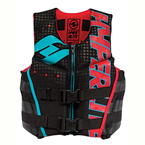 Hyperlite Boys Youth Indy Life Jacket-Large Black/Red/Flash 76015153