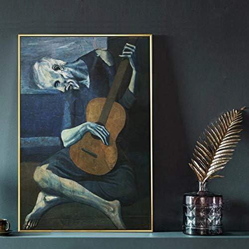 REDWPQ El Viejo Guitarrista de Pablo Picasso Wall Art Canvas ...
