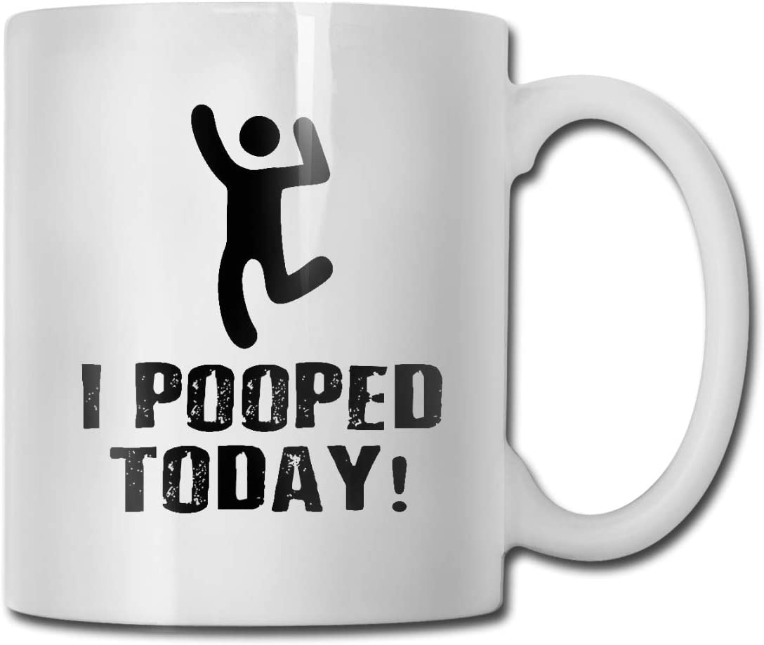 Amazon.com: antspuent I Pooped Today 11 Ounce Funny Poop Coffee Mug - Novelty Mug Gift for Poop Emoji Lovers - Make Your Friends, Family and Coworkers Laugh Coffee Cups: Home & Kitchen