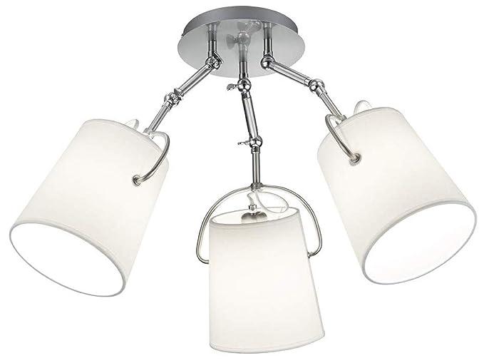 Lámpara de techo clásica de 3 luces con pantallas de ...