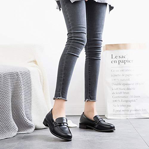 Alikeey De Cuero Arch Casual Talón Sandalias Plataforma Slip Negro Support Zapatos on Sandals Redonda Mujer Coche Square Punta Solo Moda Verano BtBqrn