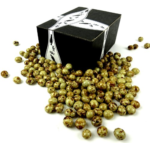 Gourmet 'Ocelot Beans' Marbled White & Dark Chocolate Espresso Beans, 2 lb Bag in a Gift Box by Cuckoo Luckoo Confections