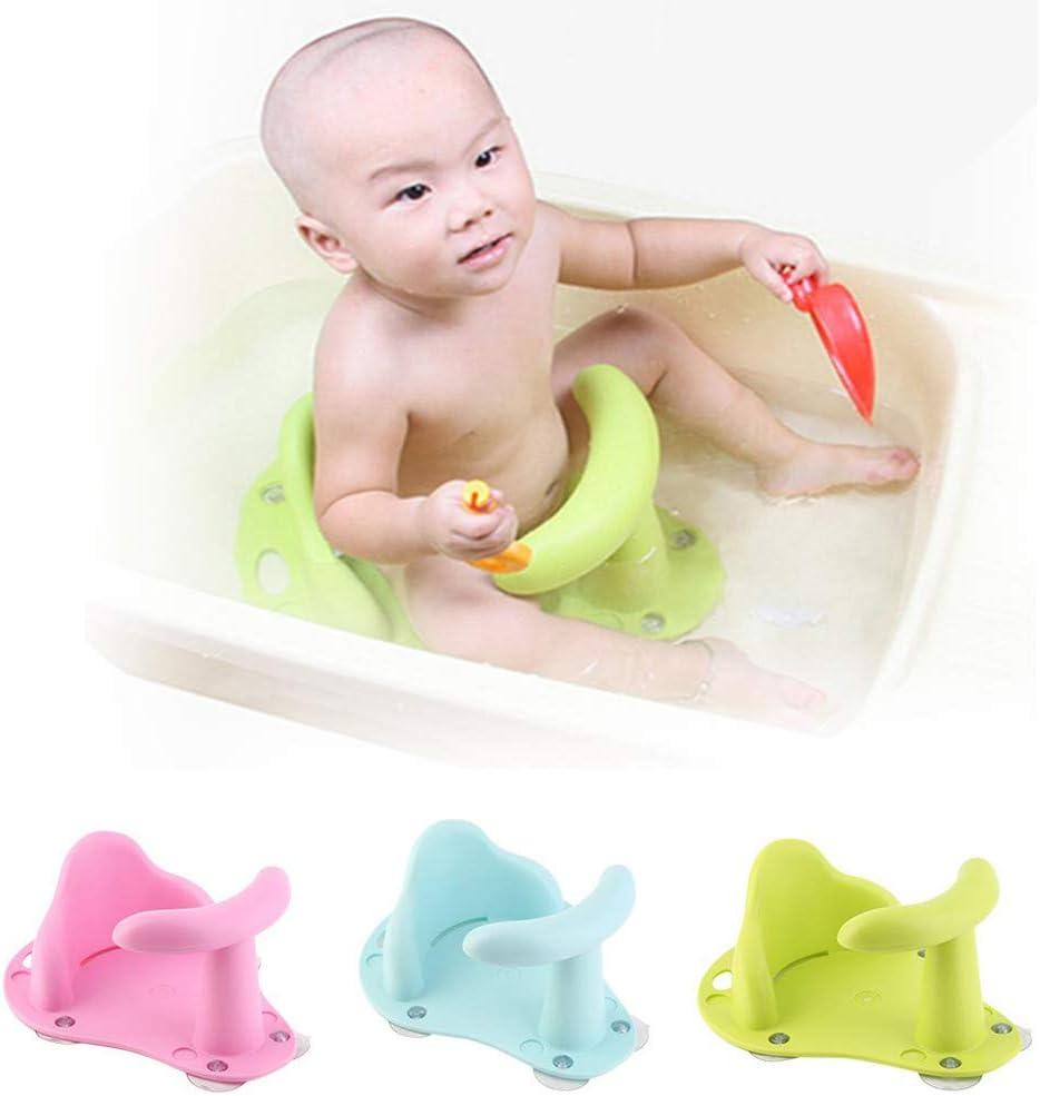 Babypflege Baden Badewannen Babywanne f/ür ca Baby Rutschfester Badesitz 1-3 Jahre Baby 38 x 31 x 18 cm Gr/ün HSKB Babydesign Badesitz