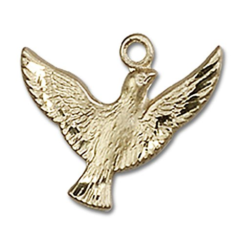14kt Yellow Gold Holy Spirit Medal 1/2 x 5/8 inches by Unknown