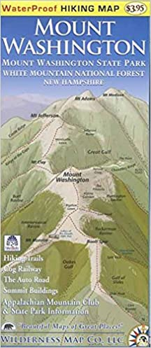 Mount Washington Waterproof Hiking Map: Ed Rolfe/Wilderness ...