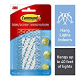 Command Decorating Clips, Mini, Clear, 20 Clips 24 Mini Strips
