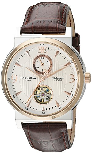 Thomas Earnshaw Men's ES-8012-04 Providence Analog Display Automatic Self Wind Brown Watch