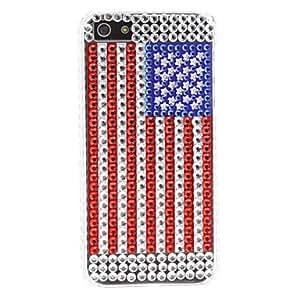 compra Estilo duro rhinestones EE.UU. patrón de la bandera para el iphone 5/5s