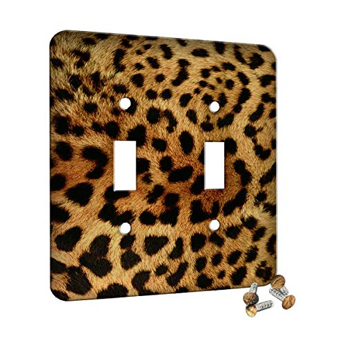 Leopard Print - Decor Double Switch Plate Cover Metal