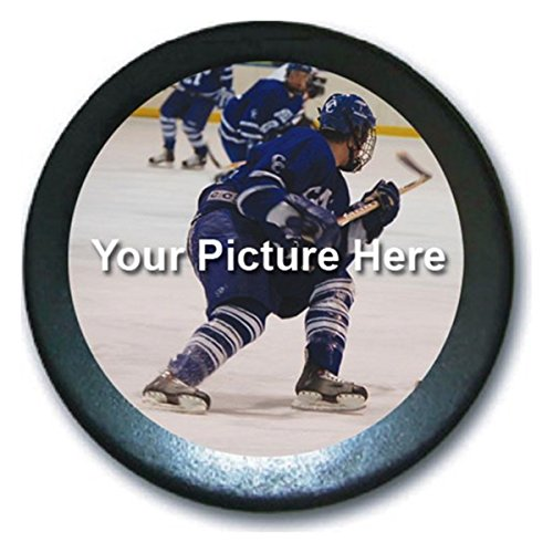Pucks Personalized Hockey (Hat Shark Custom Personalized Hockey Puck - Your Custom Photo Printed Here in Full Color)