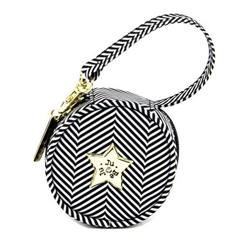 JuJuBe Paci Pod Pacifier Wristlet, Legacy Collection - The Queen of The Nile - Black/White Chevron ()