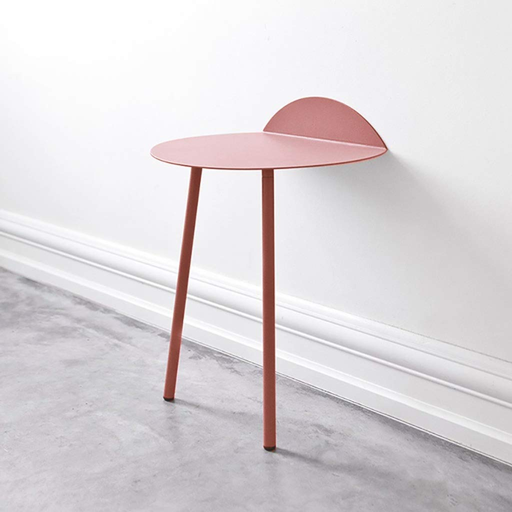 Wall-Mounted Table, Wall Desks for Small Spaces, Metal Wall Table, Saving Space, Easy to Install, Wall Mount Desk (Color : Pink, Size : Small) by WYQ