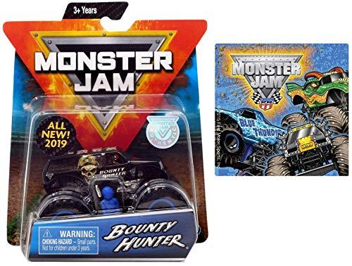 2019 Monster Jam Bounty Hunter & One Monster Jam Sticker (Styles Vary) 2 Items Bundle ()