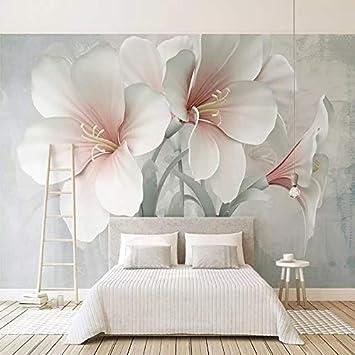 Amazon.com : Foto personalizzata Wallpaper 3D Stereo Fiori ...