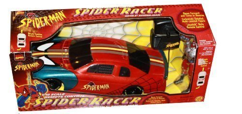 Marvel Comics Spider-man Remote Control Spider Racer With 5 Inch Spider-Man Figure - 1/18 Scale