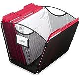 Safco Products  2162BL Onyx Mesh Desktop Tub File, Letter Size (Qty. 1), Black