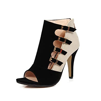 926cf1b650 GATUXUS Open Toe Women Platform High Heel Shoes Buckle Pump Boots for Party  Prom (5
