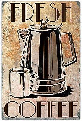 Original Vintage Design Coffee Tin Metal Wall Art Sign Tinplate Wall Decoration For Coffee Corner Kitchen Cafe Amazon Sg Home