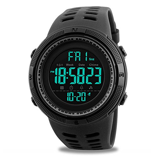 Mens+Digital+Sports+Watch%2C+Military+Waterproof+Watches+Fashion+Army+Electronic+Casual+Wristwatch+with+Luminous+Calendar+Stopwatch+Alarm+LED+Screen+-+Black