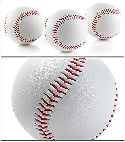 Bestlymood des Gamins Professionnel de Plein Air 25 Pouces Batte de Baseball en Bois et Balle de Softball et Gants de Baseball Entra?Nement Physique Set de Baseball avec Sac Noir