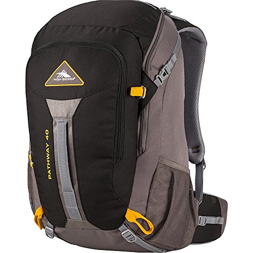High Sierra Pathway 40L, Black/Slate/Gold