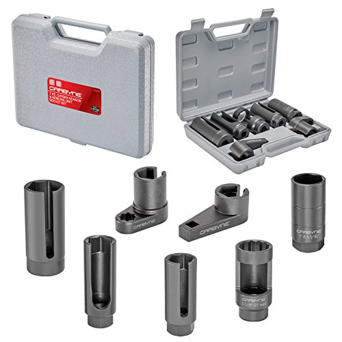 Carbyne 7 Piece Oxygen Sensor & Sending Unit Socket Set, Chrome Molybdenum Steel