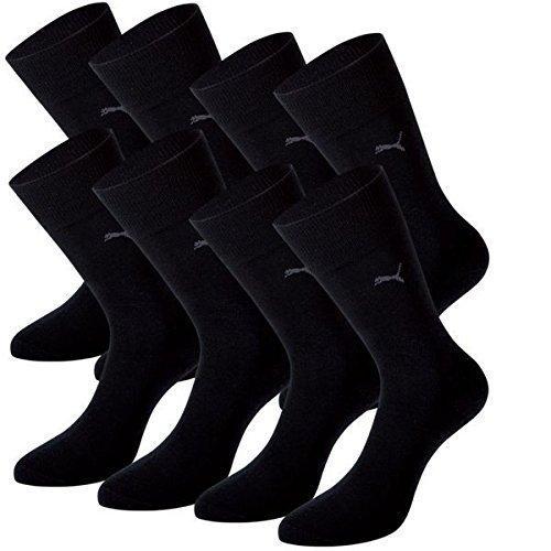 PUMA Herren Classic Casual Business Socken 8er Pack (Black, 47-49)