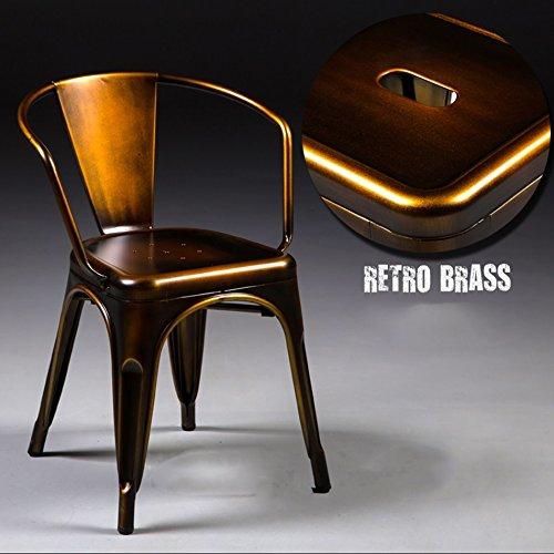 Lying レトロアイロンダイニングチェア、クリエイティブロフト複数の色アイアンは古い椅子を作るメタルカフェメインレストランの装飾アイアンバーチェアラウンジチェア45 * 45 * 73cm 見つける ( 色 : E ) B075MDCLQME