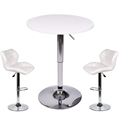 Amazon Com Pub Table Set 3 Piece 24 Inch Round Table With 2