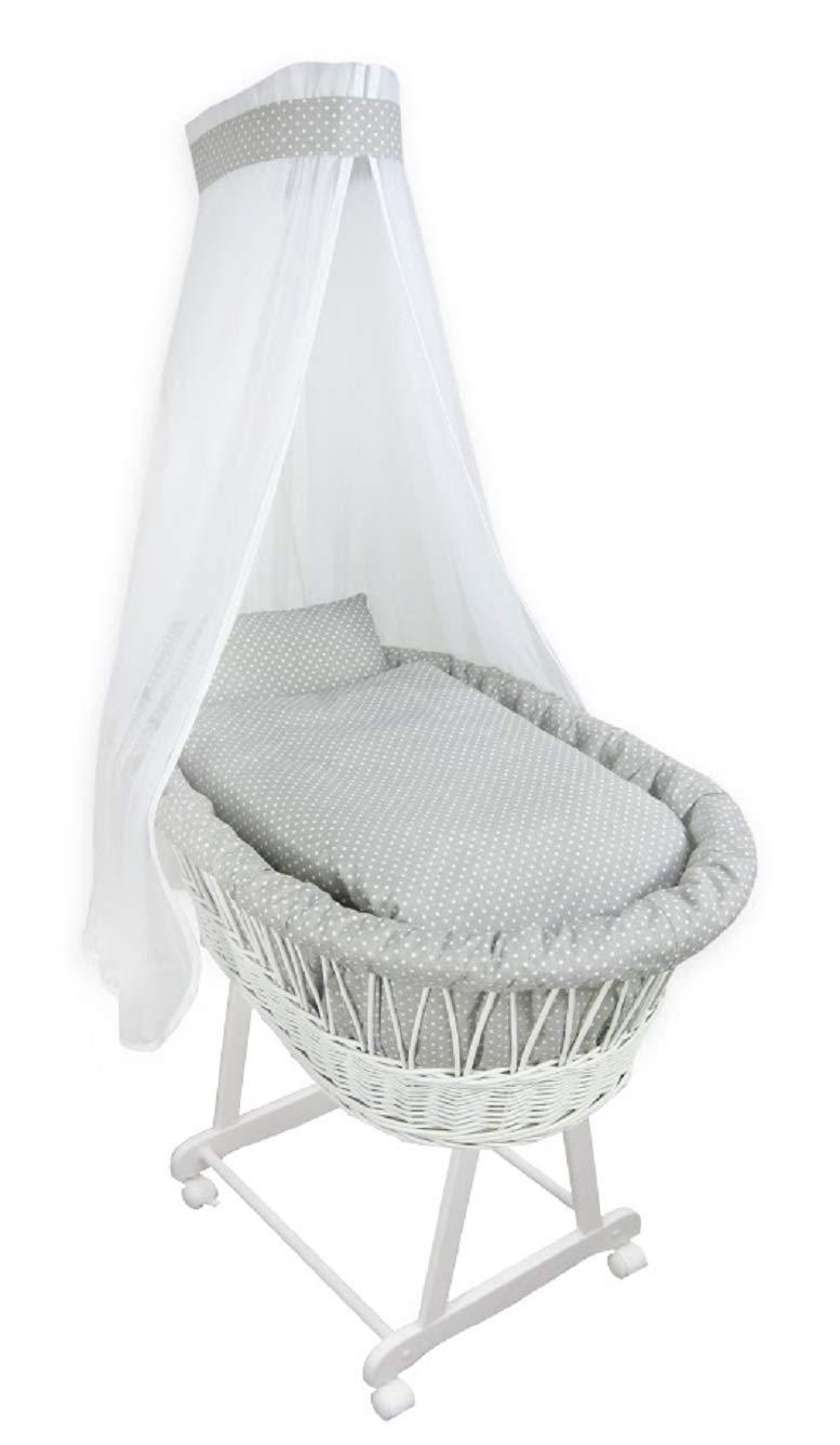Baby Ausstattung für Stubenwagen Chiffonhimmel Nestchen Himmelset