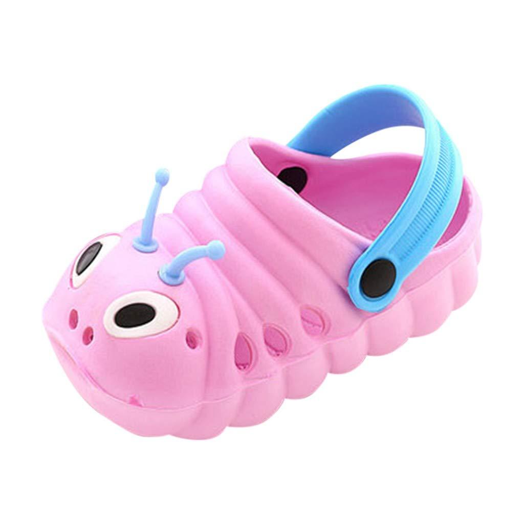 Carolui Summer Unisex Baby Hole Slippers Newborn Toddler Cute Lightweight Cartoon Caterpillar Beach Sandals Slippers Clog Flip Shoes