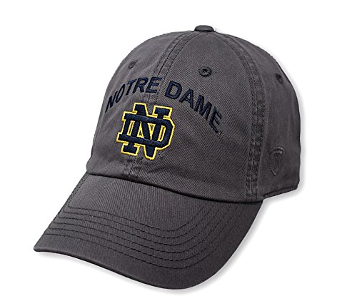 Top of the World Notre Dame Fighting Irish Men's Hat Arch, Charcoal, Adjustable