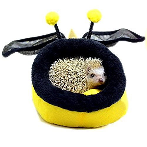 Alfie Pet by Petoga Couture - Jocelyn Sleeping Cave Bed for Small Animals like Dwarf Hamster and Mouse - Pattern: Bee