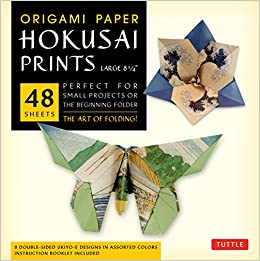 Book Origami Paper - Hokusai Prints - Large 8 1/4