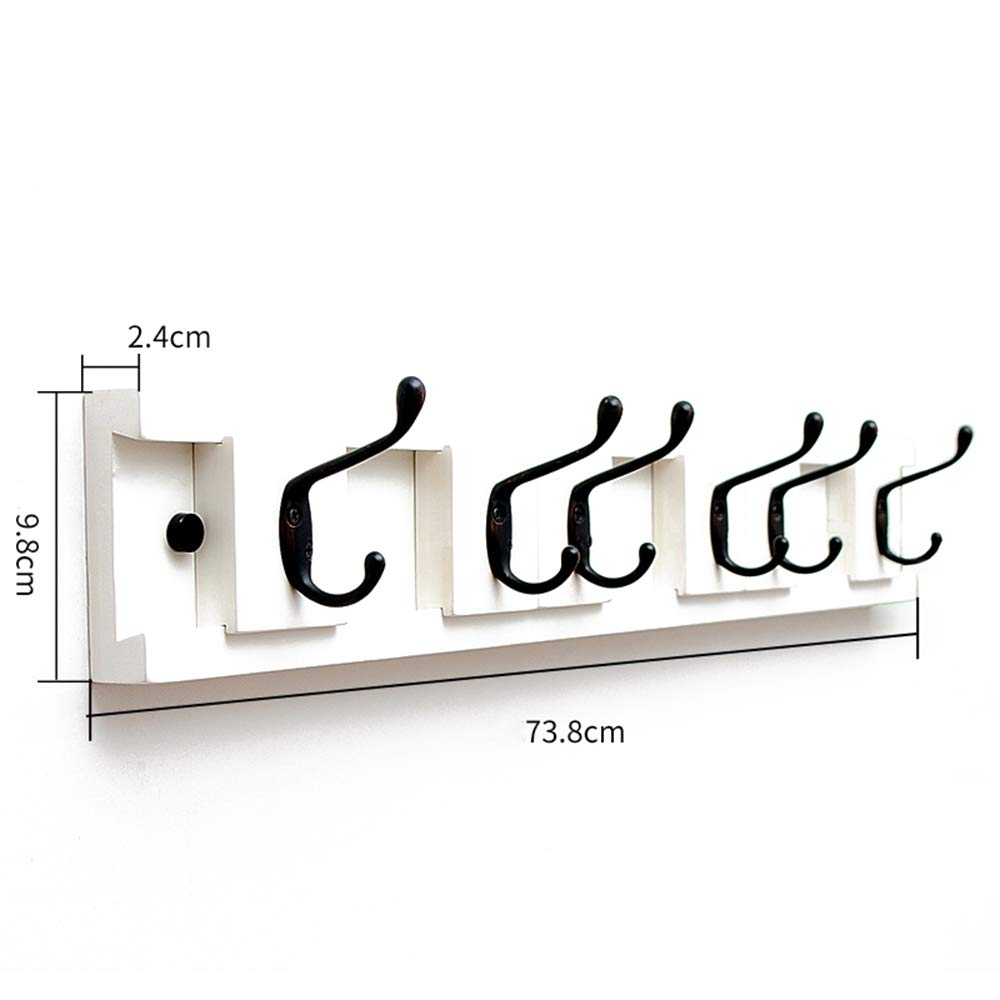 C 73.89.82.4 cm HHXD Household Wall Mounted Bamboo Coat Hook Coat rack Bedroom It Can Move Green Environmental Predection Hooks Strong Durable Moisture Proof B   86.8  9.8  2.4 cm