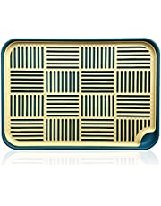 LELE LIFE Double-LayerDish Drainer Tray, Drain Board Dish Drying Mat, Dish Drying Tray Draining Mat for Dishes, Fruit, Cups and Mugs