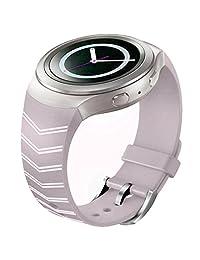 Watch Band, ABC Luxury TPU Silicone Watch Band Strap for Samsung Galaxy Gear S2 SM-R720 (purple1 )
